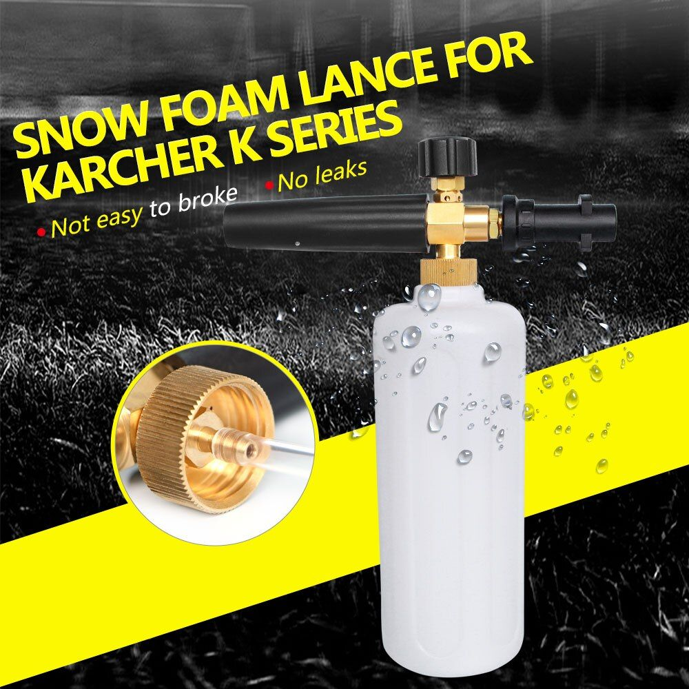 High Pressure Snow Foam Lance for Karcher K Series Soap Foamer Adjustable Foam Nozzle Professional Foam Generator Car Washer