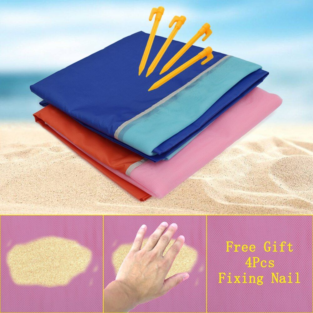 200x200cm Large Camping Mat Beach Mat Sand Proof Mat Waterproof Blanket Travel Summer Vacation Outdoor Sleeping Pad