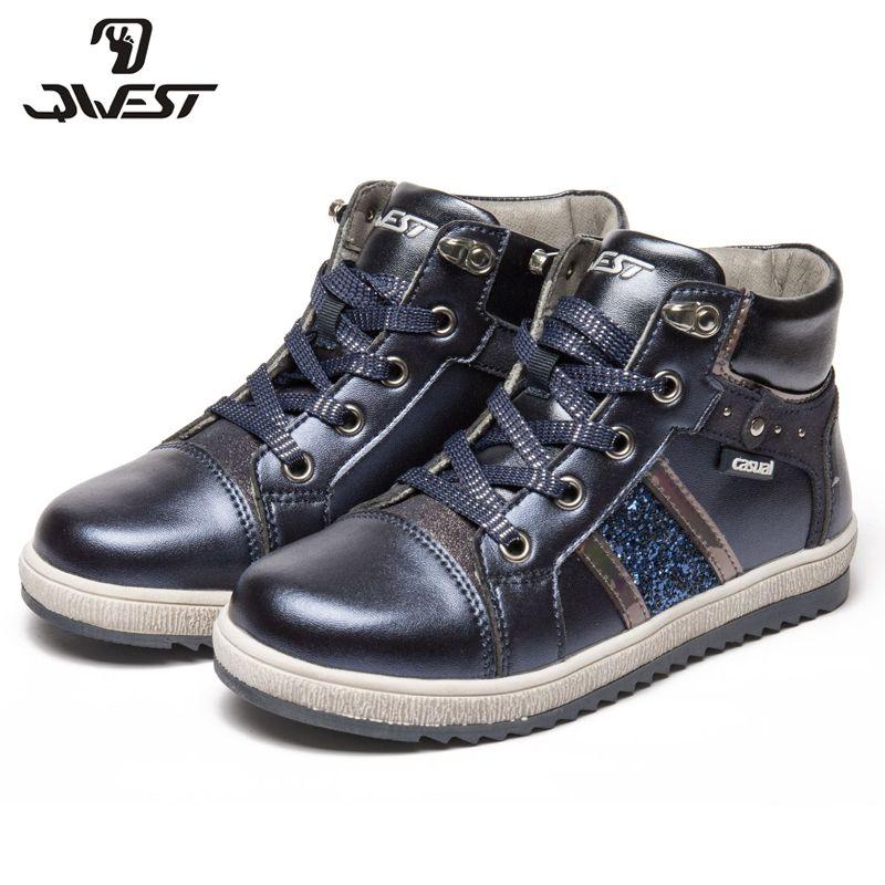 QWEST (durch FLAMINGO) herbst Halten warme Stiefel Hohe Qualität Spitze-Up Anti-rutsch Kinder Schuhe für Mädchen Freies verschiffen 82B-XY-1008/ 1009