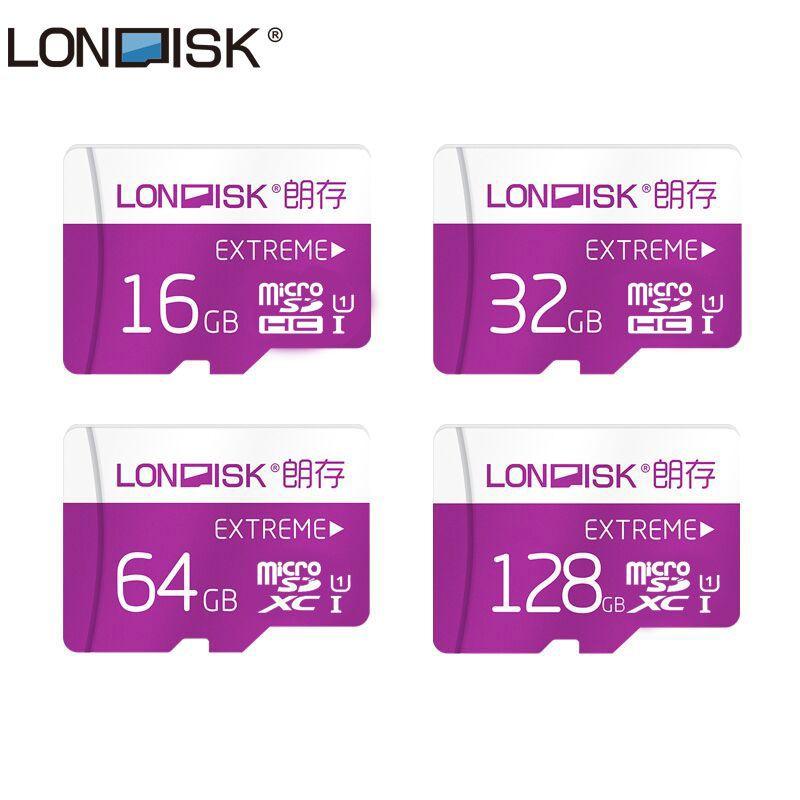 Carte Micro SD Londisk 16GB 32GB 64GB 128GB Class10 UHS-1 carte mémoire Flash carte mémoire Microsd TF pour Smartphone Pad caméra