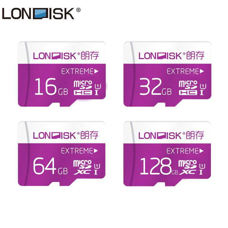 Londisk Micro SD Carte 16 gb 32 gb 64 gb 128 gb Class10 UHS-1 Carte Mémoire Flash Carte Mémoire Microsd TF Carte pour Smartphone Pad Caméra