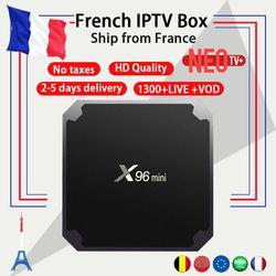Français IPTV X96mini 4 k Android TV Box 7.1 avec 1300 + NEO IPTV Europe Français Arabe Espagne Tunisie Maroc payTV Smart Set top Box