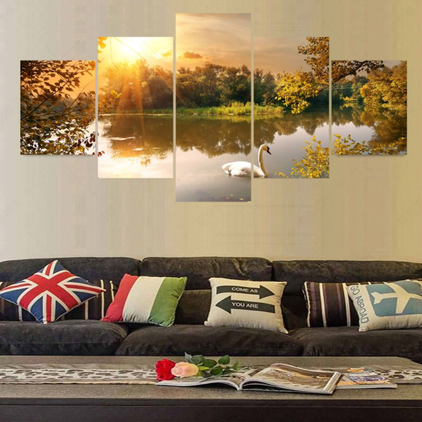 5 Piece Modern Canvas Art Cuadros Decoracion Painting Wall Pictures For Living Room Home Decor Picture Unframe