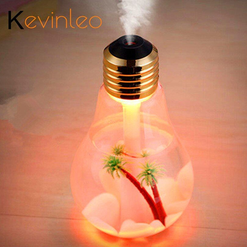 400ML ampoule diffuseur d'huile essentielle LED à ultrasons USB Port plante arbre 3 couleurs pour Option diffuseur d'arôme Difusores humidificateur Usb