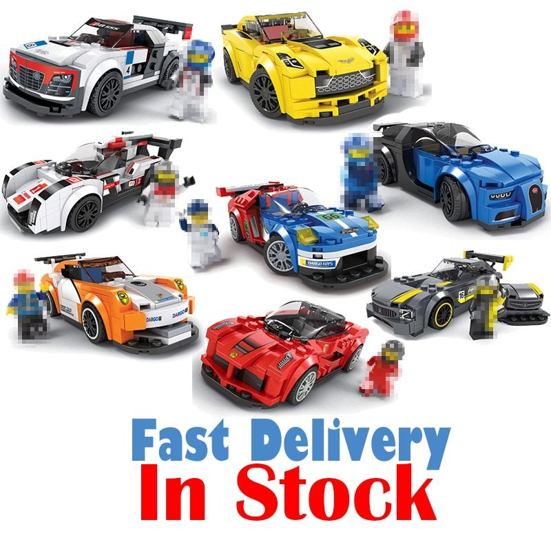 Technic City Super Racers Speed Champions Supercar Racing Car Building Blocks Bricks Toys DIY For Kids Model legoingly oyuncak