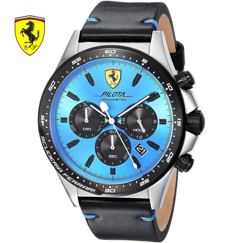 SCUDERIA FERRARI Brands 2018 New Ferrari Men Fashion Casual Hardlex Top Brand Scuderia PILOTAQuartz Watches Herrenuhren 0830388