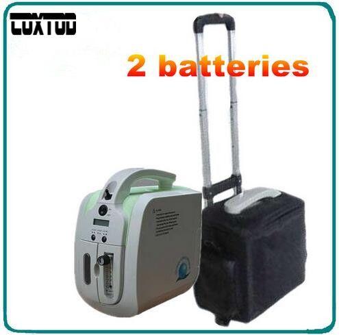 COXTOD 2 Batterien mini tragbare sauerstoffkonzentrator generator für home/auto/reise verwendung mit batterie sauerstoffversorgung sauerstoffgenerator