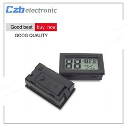 Free Shipping! Black LCD Digital Thermometer Hygrometer Module Indoor Electronic Temperature Humidity Meter