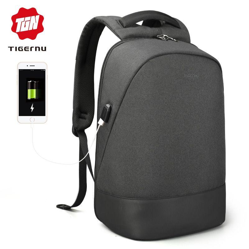 Tigernu USB Charging Waterproof Anti Theft Backpack 15.6 inch Laptop Backpack Men Mochilas for Teenagers Backpack Schoolbag