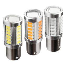 2 шт. 1156 7506 BA15S P21W 5630 5730 светодиодный автомобиль хвост лампы стоп-сигналы Авто Обратный лампы дневного света красный белого и желтого цвета 12 ...