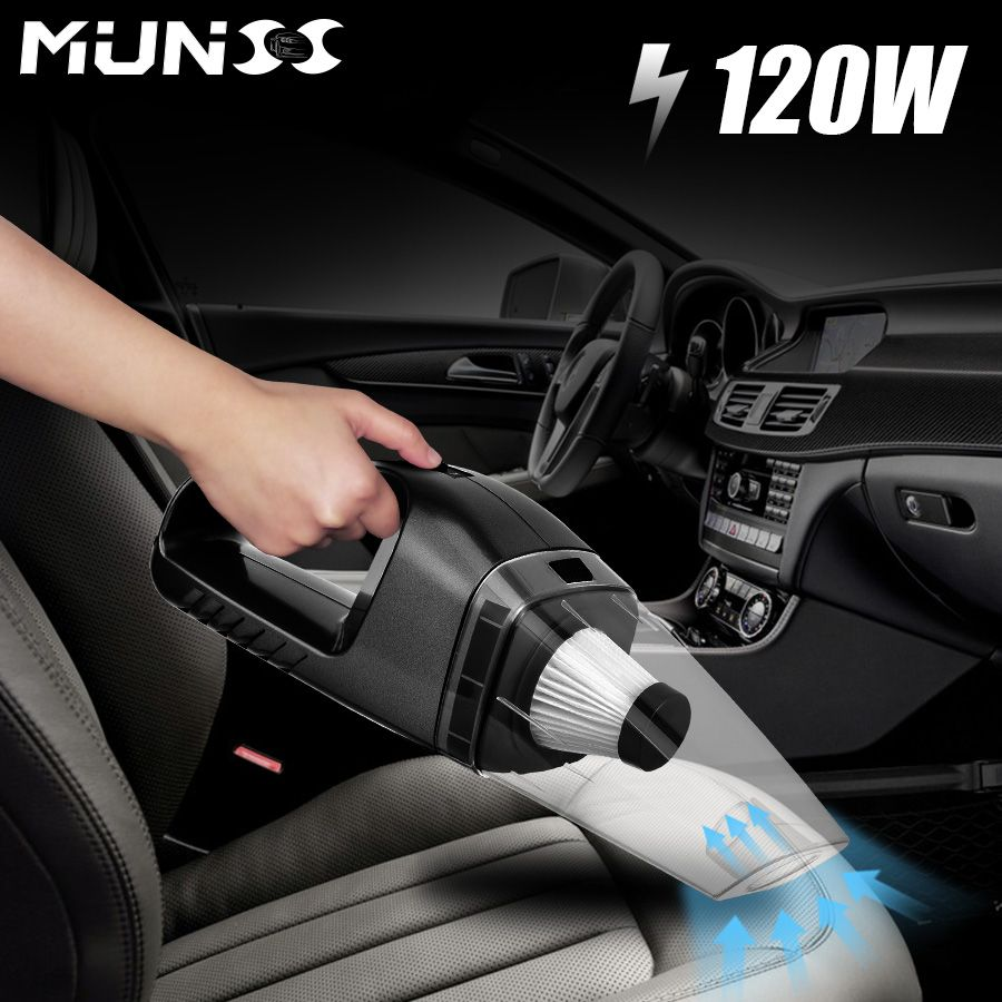 2018 120W MUNSS Mini Car Vacuum Cleaner Car Cleaner Handheld Portable 12V Powerful Auto Cleaning Tools Auto Car Vacuum Cleaner