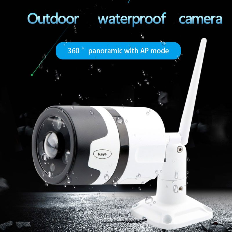 N_eye IP Camera Outdoor Waterproof HD 1080P CCTV Camera WiFi 360 Panoramic Security Outdoor IR Vision Wireless Wifi Camera C30