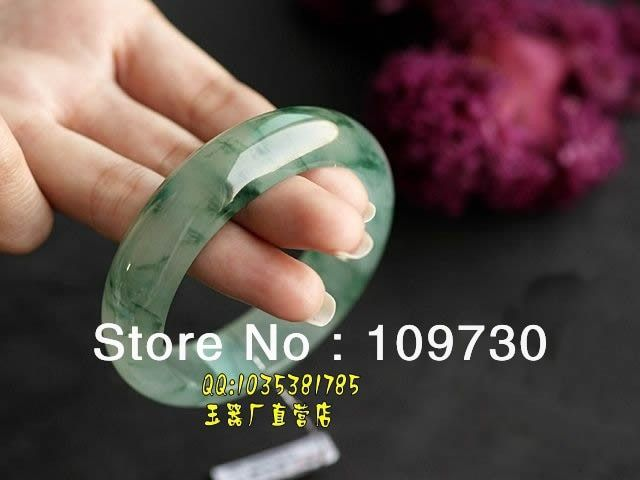 Female models Class A floating flower genuine Myanmar natural ice bracelets dh0045
