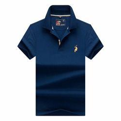 Brand New Mode Hommes Polo Chemises 2018 D'été De Luxe broderie Respirant Camisa Masculina Coton Doux solide Polo Hommes