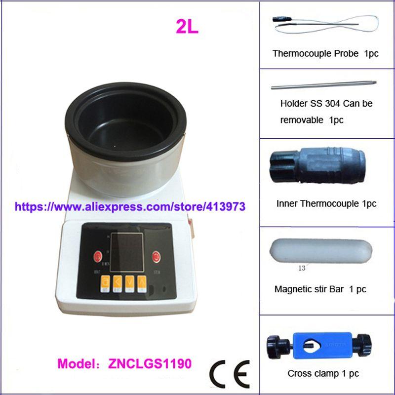 Free shipping, 2L Digital Lab Thermostatic  stirring oil bath /Water Bath