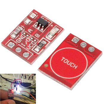 10Pcs TTP223 Touch Key Switch Module Touching Button Capacitive Switches Self-Locking/No-Locking Capacitive Switches