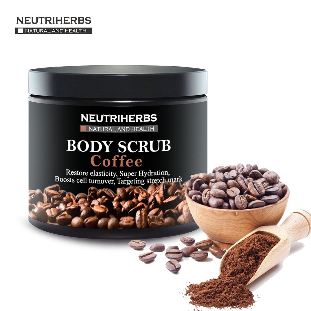 Neutriherbs Coffee Body Scrub Coconut Natural Oil Body Scrub For Exfoliating Whitening Moisturizing Reducing Cellulite 200g/pc