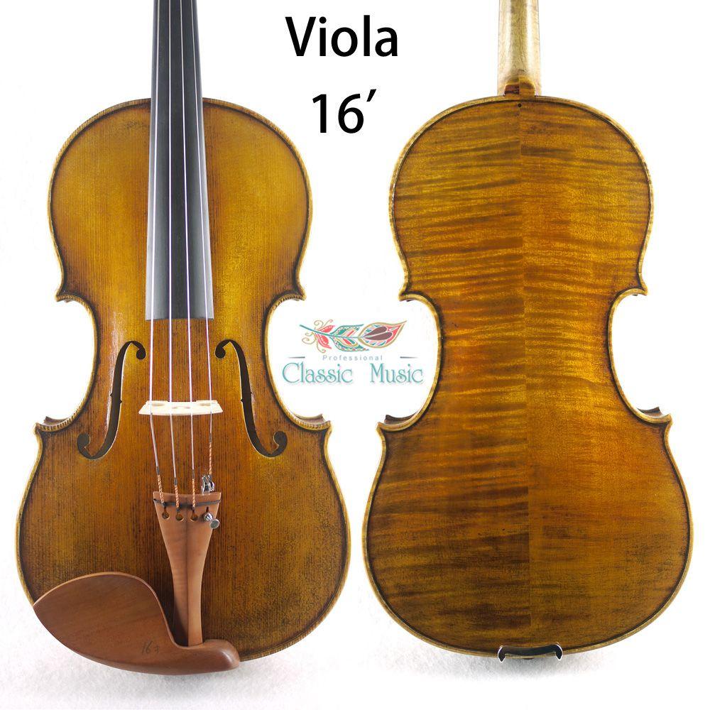 Eine. Jahrhundert Italienische Viola Kopie. größe ', Top Handgemachte Öl Lack, Keine. V05 Viola. Handmade antiken viola, große setup