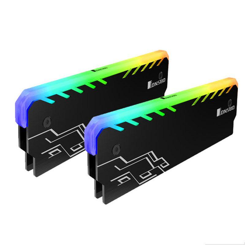2 PC Mémoire RAM RGB Refroidisseur Dissipateur De Chaleur De Refroidissement Gilet Fin Rayonnement Dissiper Pour BRICOLAGE Jeu PC L'overclocking MOD DDR DDR3 DDR4