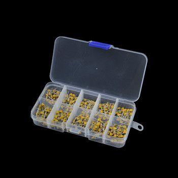 300 pcs 10 Valeur 50 V 10pF 20pF 30pF 47pF 56pF 68pF 100pF 1nF 10nF 100nF Céramique Multicouche Condensateur Assortiment Kit
