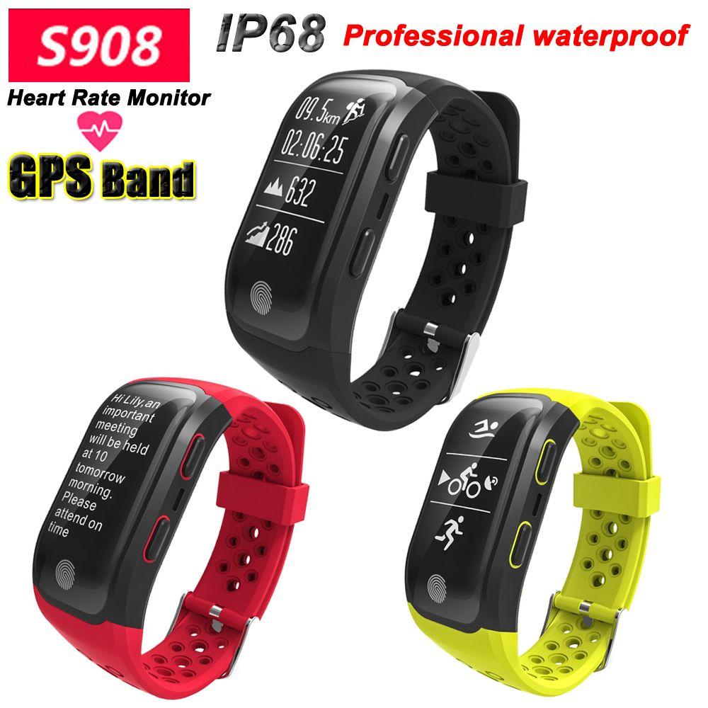 100% Joinrun S908 GPS Smart Band IP68 Waterproof Sports Wristband Multiple sports Heart Rate Monitor Call Reminder Smartband