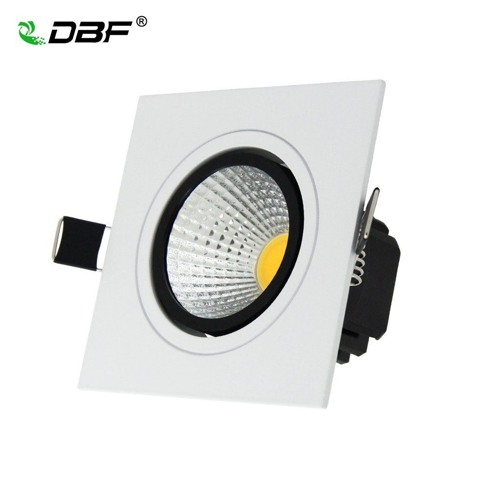 NEW Embedded COB LED Downlights Square 7W 9W 12W 15W LED Spot lamp AC85-265V LED Recessed Ceiling Lamp Warm white/Cold white