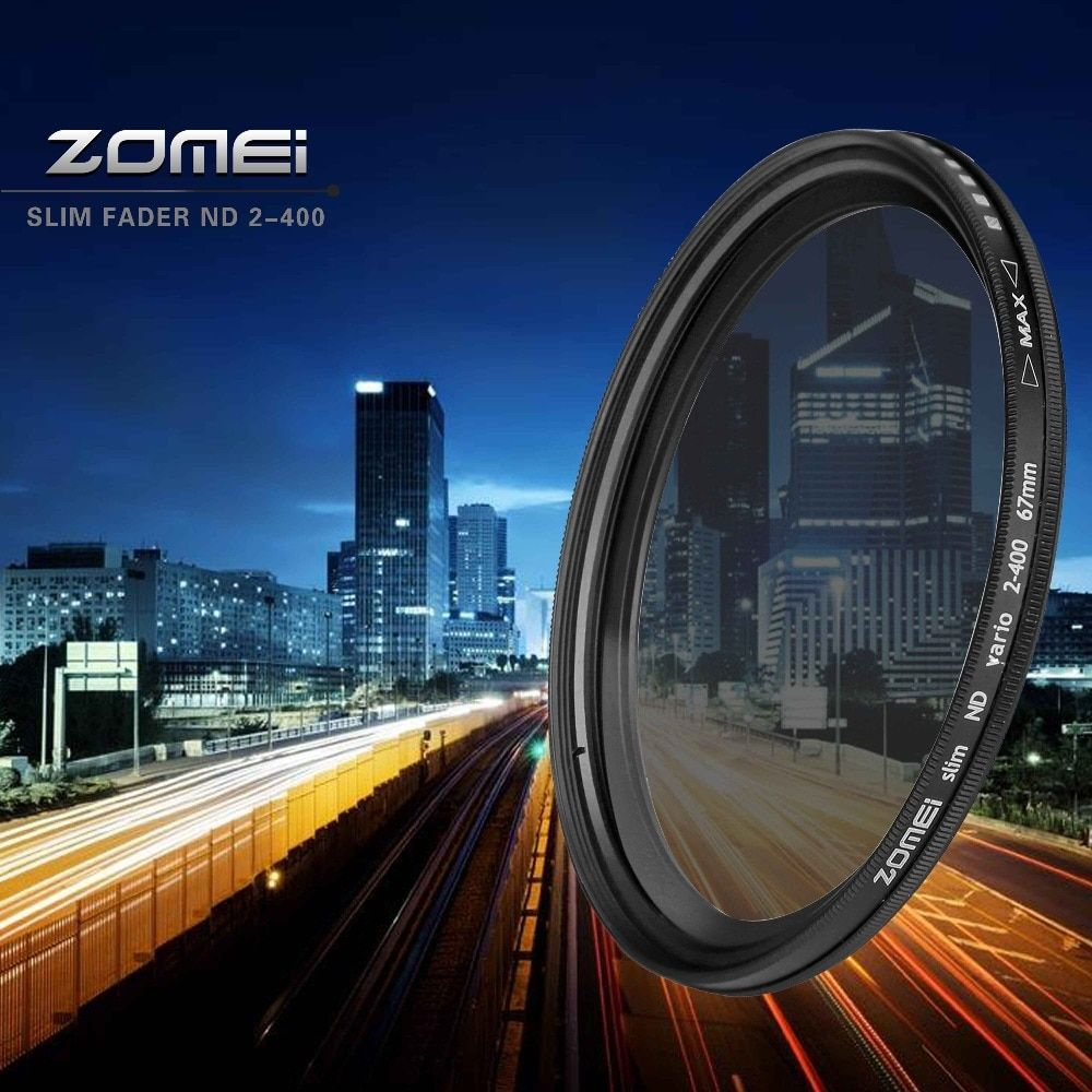 ZOMEI Glass Slim ND2-400 Neutral Density Fader Variable ND filter Adjustable 49/52/55/58/62/67/72/77/mm