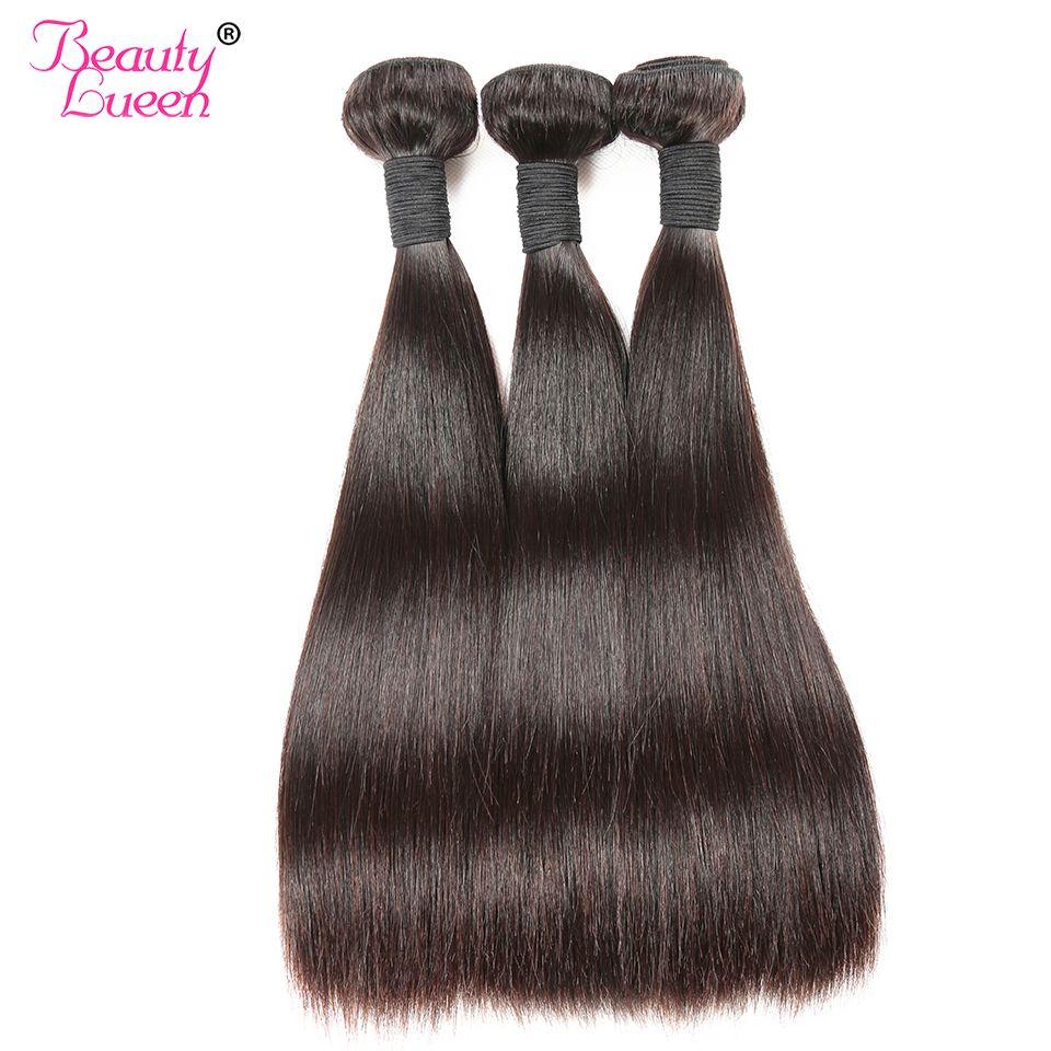 Brésilienne Cheveux Raides Weave Bundles 8-28 pouces Jet Noir Cheveux Humains 1/3/4 Bundles Remy brésilien Cheveux Bundles Beauté Lueen
