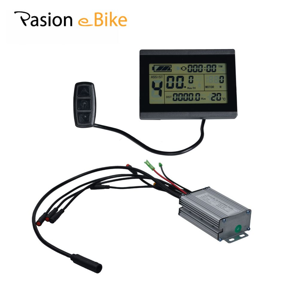 PASION E BIKE Controller Display 24V 36V 48V LCD Control Panel For Electric Fat Bikes LCD Display 25A Controller Sondors Parts