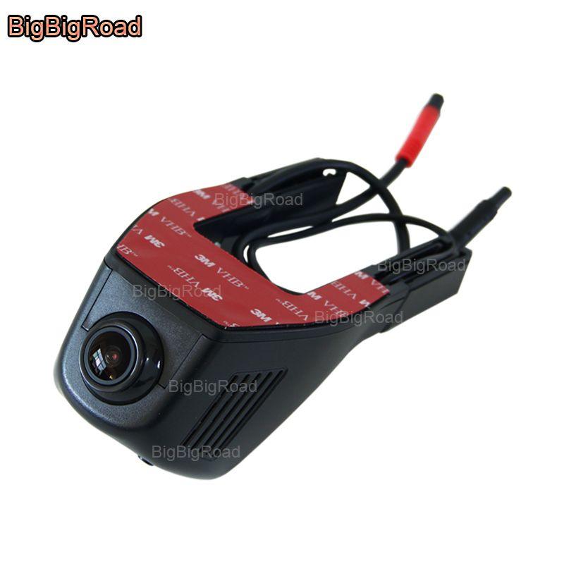 BigBigRoad For Skoda Octavia 2 / Fabia 1 2 / Rapid / Superb Yeti Car Dash Cam Wifi DVR Novatek 96658 Dual Lens Car Black Box