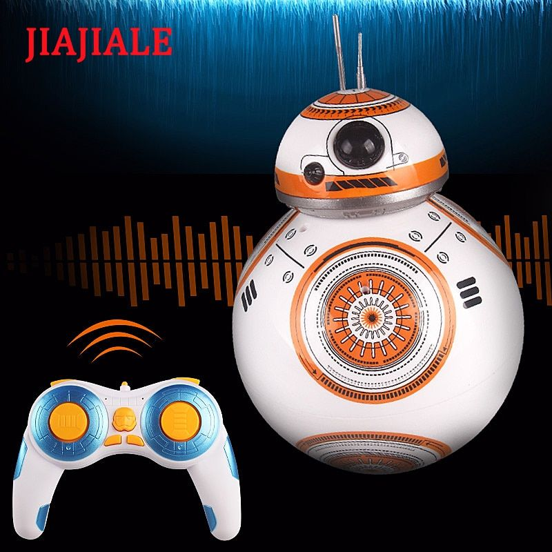Free Shipping See BB Star Wars Robot RC 2.4G BB Robot Intelligent Robot with Sound Reinforced Concrete Ball Baby Boy Gift Toy