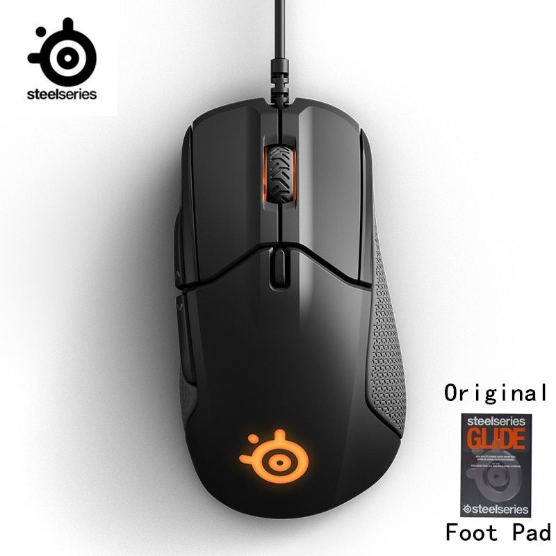 SteelSeries Rival 310 RGB FPS USB Optical Gaming Wired Mouse with 6500 CPI Split-Trigger Buttons CS LOL CF for Windows Linux