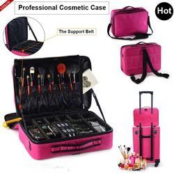 Wanita Fashion Tas Kosmetik Makeup Perjalanan Organizer Profesional Membuat Kotak Kosmetik Tas Kasus Kecantikan untuk Makeup Artist