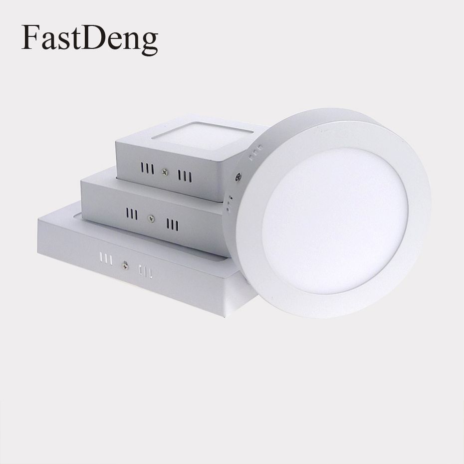 LED Oberfläche Montiert Panel Decke Licht 6 watt 12 watt 18 watt Runde Quadrat Unten lichter Lampe AC85-265V LED Einbau lichter innen beleuchtung