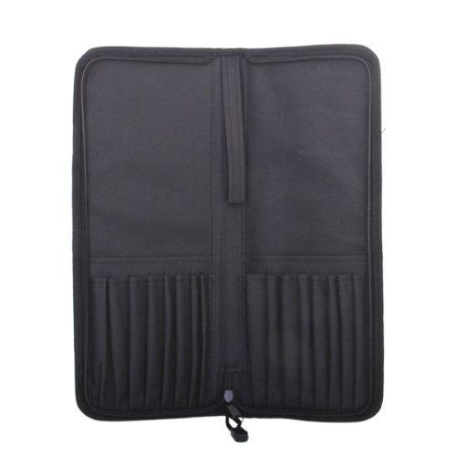 Support de sac de brosse d'artiste de tirette de tissu d'oxford pliable abordable-noir
