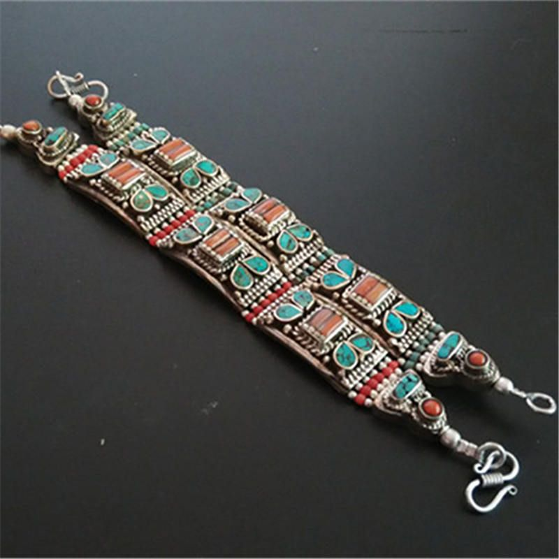 BB-475 Indian Bollywood Fashion Bangles Copper inlaid colorful Stone Cuff Bangles 2017 Spring New