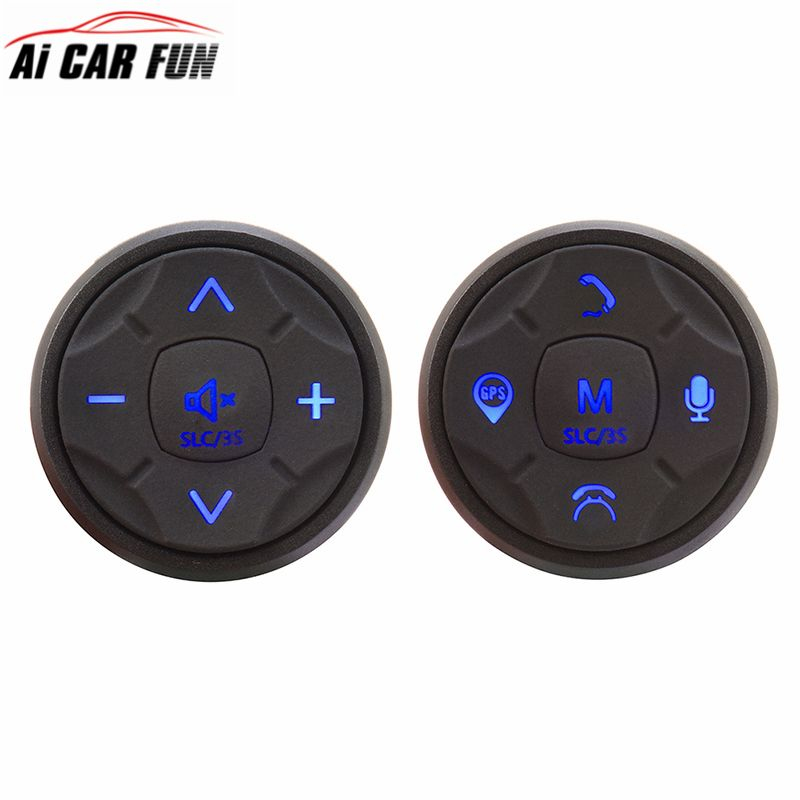 Universal Wireless Car Multimedia Steering Wheel Control Multi-function Button 10 Buttons DVD Navigation Button