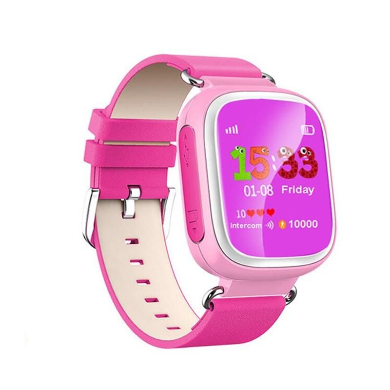 2016 Kid GPS Montre Smart Watch Montre-Bracelet SOS Appel Dispositif de Localisation Tracker pour Kid Safe Anti Perdu Moniteur Bébé Cadeau Q80 PK Q50 Q60