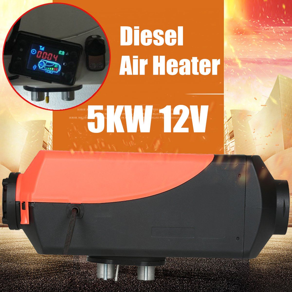 5kw 12v Diesel Air Heater Lcd Switch Remote Control Set For Planar Car Truck Bus