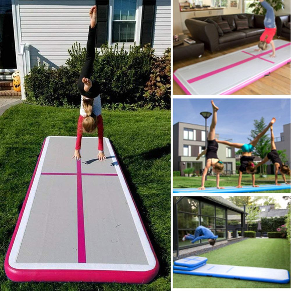 Inflatable Mattress Gymnastic Tumbling Air Yoga Taekwondo Bouncer Airtrack Inflatable Toy Trampoline for Home Gymnastic Exercise