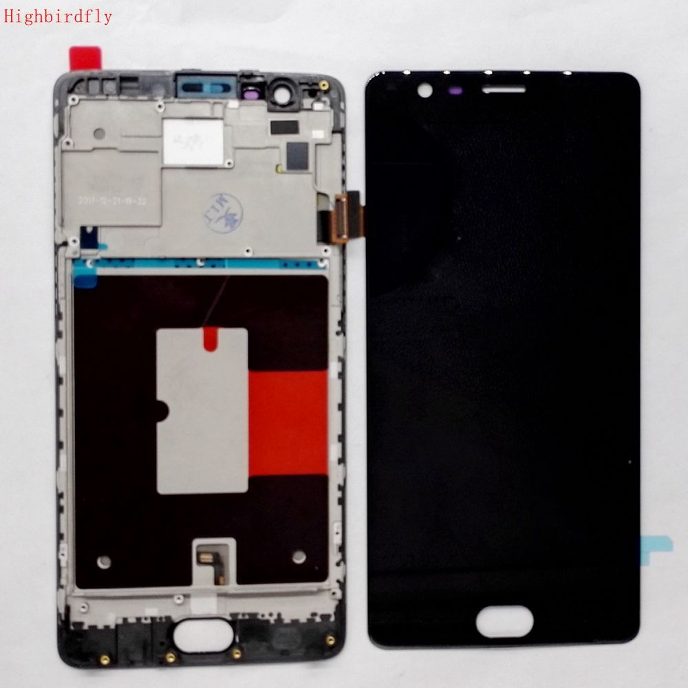 Highbirdfly For Oneplus 3/3t A3000 A3003 A3100 Lcd Screen Display+Touch Glass DIgitizer Frame Repair broken LCDS (amoled)