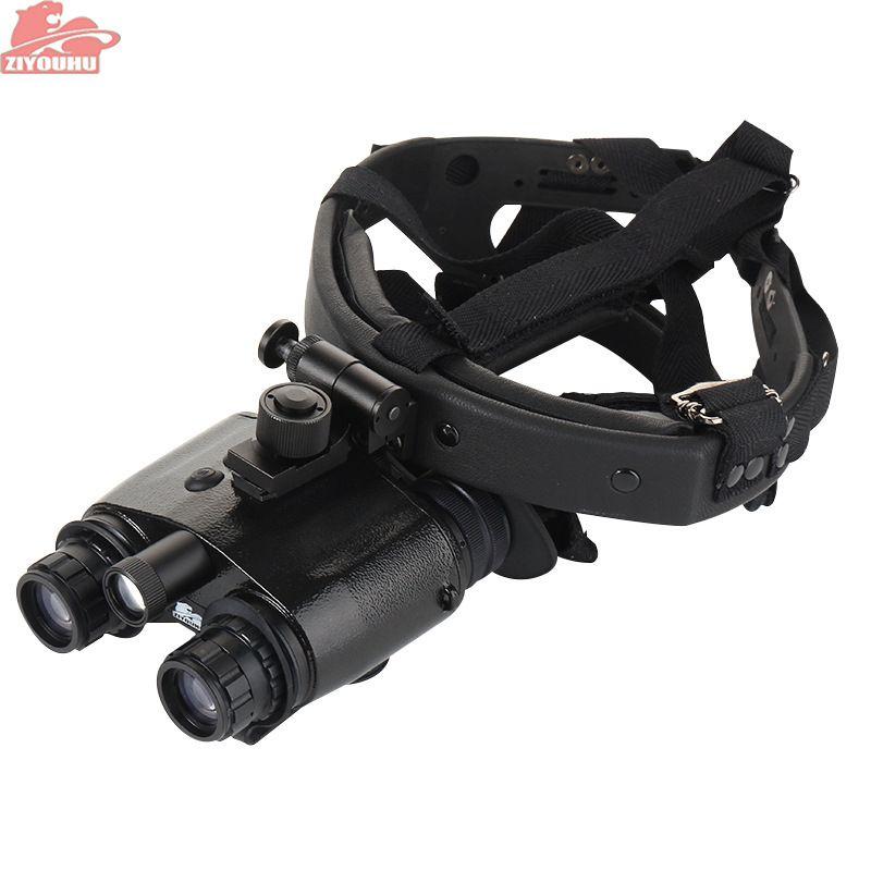 ZIYOUHU 1X24 Kopf-montiert Infrarot Helm Nachtsicht Fernglas Brille NVMT Kompakte für Jagd Tactical Neue 1 + Generation