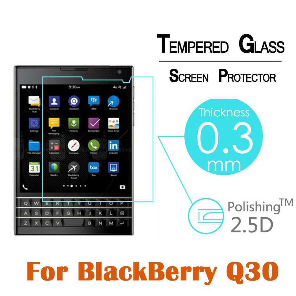 9H 0.3MM Premium Explosion Proof Toughened Tempered Glass For BlackBerry Q30 4.5