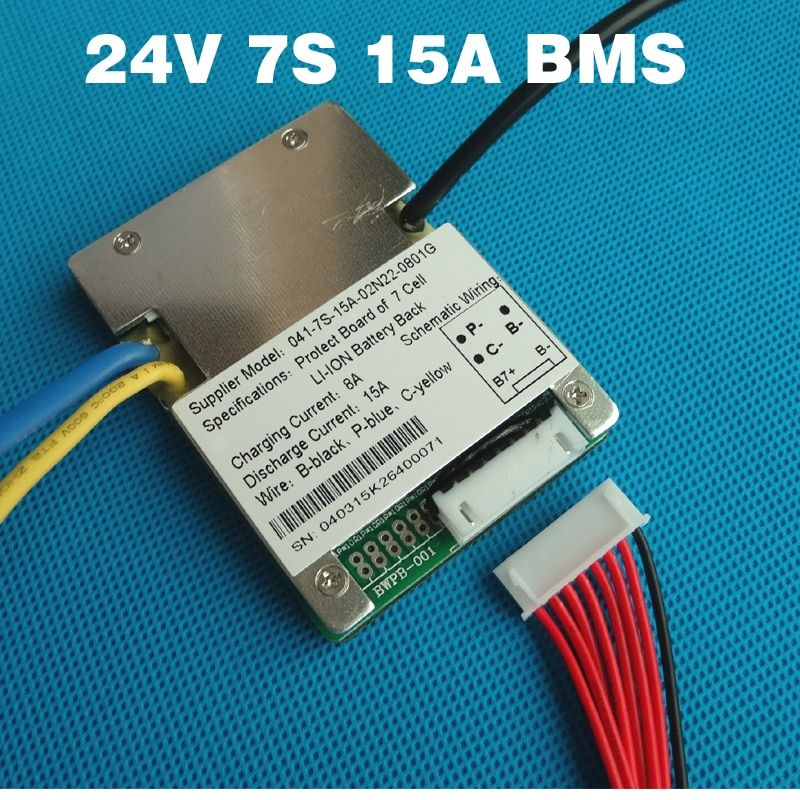 7S 24V 15A BMS li-ion battery BMS Used for 24V 8Ah 10Ah 12Ah and 15Ah battery E-bike battery BMS With balance function