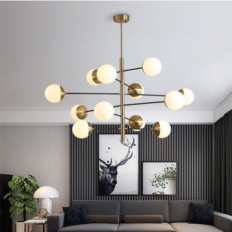 8/10/12 köpfe Postmodernen Loft Molekulare Anhänger Licht Kunst Kreative Designer Glas Ball Villa Hotel Halle Führte hängen Lichter