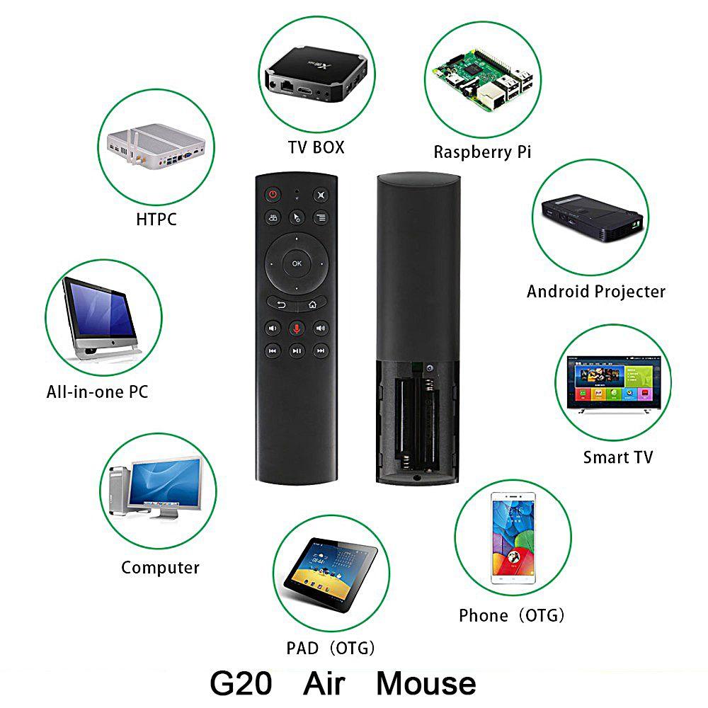 L8star G20 G20s Air souris télécommande pour Smart Android TV Box ordinateur PC ordinateur portable sans fil Rf H96 X99 Max A5x