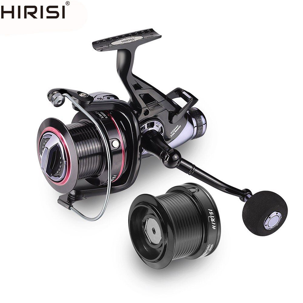 Hirisi Carp Fishing Reels Bait Runner Big Free Runner Double Brake Feeder 10+1 Ball Bearing Spinning Fishing Reel HQ8000