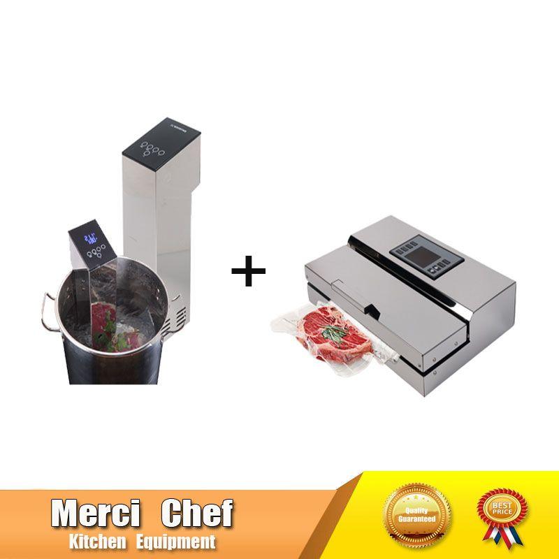 2 teile/los 1 Set Küchenmaschine Sous Vide Herd + Vakuum Versiegelung Maschine Immersion Langsam Herd Haushalt Und Kommerziellen