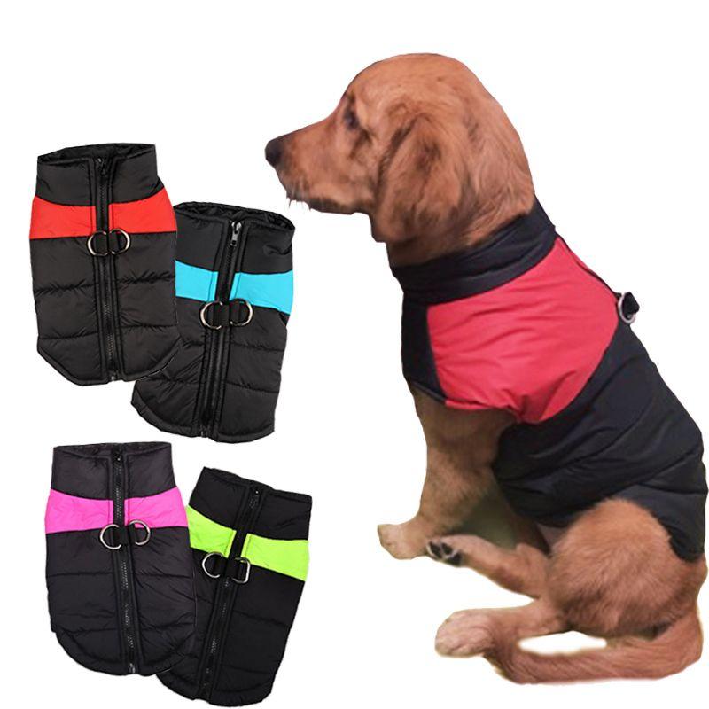 8 Tamaño S-5XL Invierno Perro Ropa Para Mascotas Chaleco Caliente Impermeable Perro Grande Gato Cachorro Perro Abrigos Chaquetas de Esquí Verde/rojo/Azul/Rosa