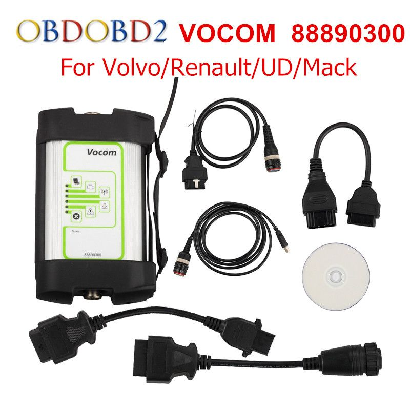 Newest For Volvo 88890300 Vocom Interface Truck Diagnostic Tool For Renault/UD/Mack/Volvo Vocom 88890300 Online Update Free Ship